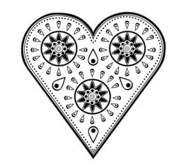 Paisley Heart Design