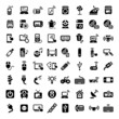 big electronic devices icons set