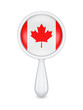 Loupe with canadian flag.