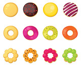 Different style donuts