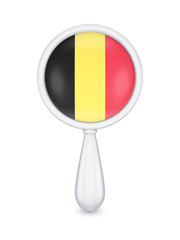 Loupe with belgian flag.