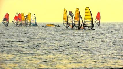 Sailboard Windsurfing Race Start