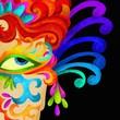 viso con decorazioni di carnevale