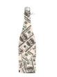 money concept. bottle of champagne