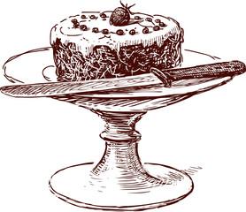 Cake in a vase