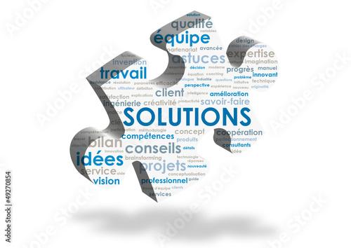 Nuage de Tags SOLUTIONS (pièce puzzle idées innovation réponses)