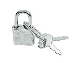 Suitcase padlock with keys