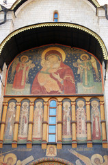 Assumption church facade. Moscow Kremlin.