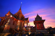 Royal funeral pyre at twilight in Bangkok