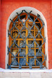 Window of St. Basil Cathedral, Red Square, Moscow, Russia.