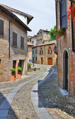 Alleyway. Castell'Arquato. Emilia-Romagna. Italy.