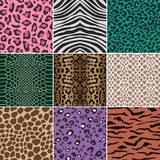 Fototapety seamless animal skin fabric pattern