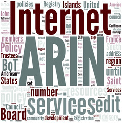 American Registry for Internet Numbers Concept