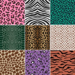 seamless animal skin fabric pattern