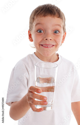 Child with water in glass