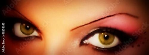 Fototapeten,grün,auge,geschminkt,eye