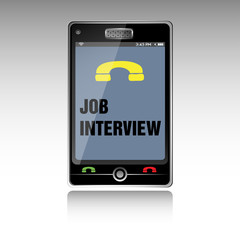 Job interview smartphone