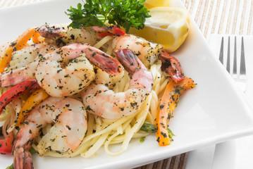 shrimp and linguini