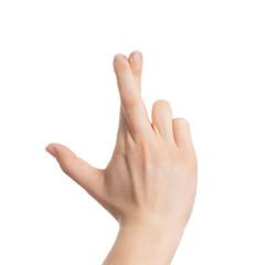 Überkreuzte Betrügerfingerchen