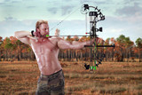 Hunting with a compound bow poster