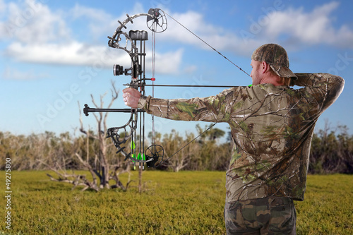 Fotobehang Jacht Hunting with a compound bow