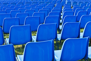 Chairs before a concert