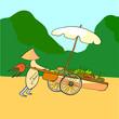 Asian fruit vendor