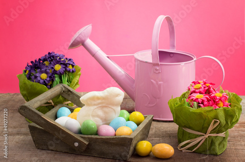 easter decorations and sweets