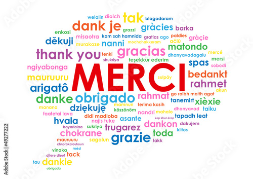 "Nuage de Tags ""MERCI"" (message thank you danke gracias)"