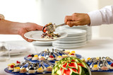 Serving tasteful food, catering - 49278025