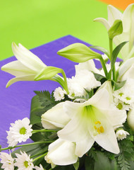 Bouquet of white lily