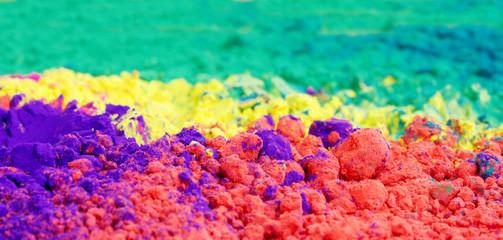 Closeup of vivid color gulal
