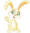 Waving bunny