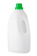 White detergent plastic bottle