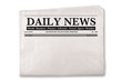 canvas print picture - Blank Daily Newspaper