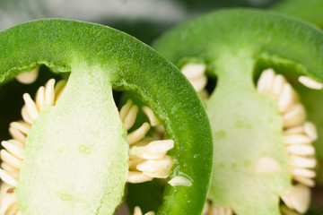 Close-up Jalapeno Slices