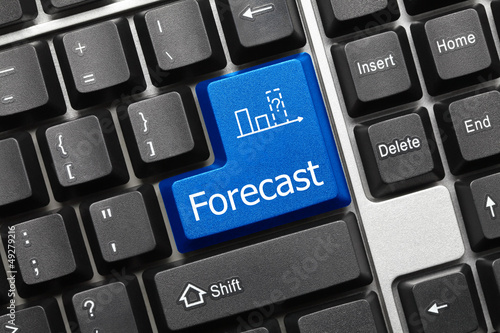 Conceptual keyboard - Forecast (blue key)