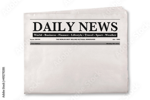 canvas print picture Blank Daily Newspaper