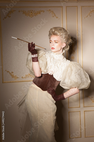 Elegant portrait with cigarette holder