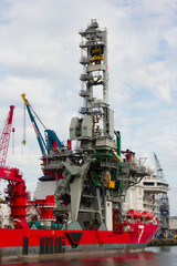 The 'Seven Borealis', a 182m large deep-sea pipe-laying vessel,