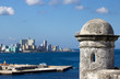 View over Havana from the castille del Morro, Cuba