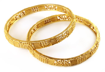 Wedding gold bracelets for Indian bride