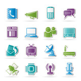 Communication, connection  and technology icons