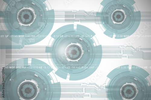 Technology wheel background