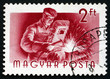 Postage stamp Hungary 1955 Welder, Profession