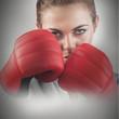 Powerful female boxer