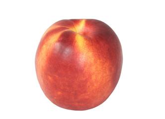 ripe nectarine on a white background