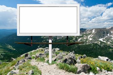 Blank Billboard Sign in Outdoor Wilderness