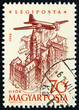 Postage stamp Hungary 1958 Plane over Gyor