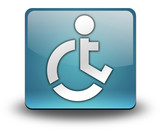 "Light Blue 3D Effect Icon ""Wheelchair Accessible"""